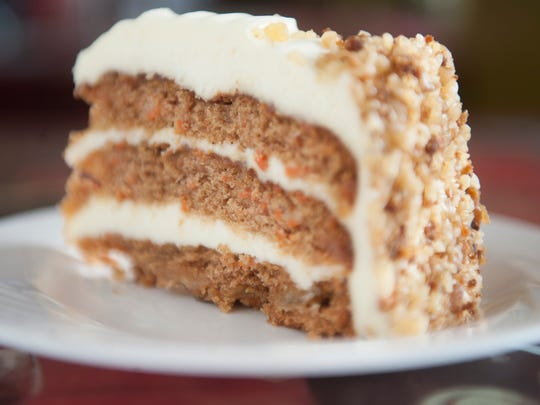 Tropical carrot cake tops off a meal at Ms. Nancy's