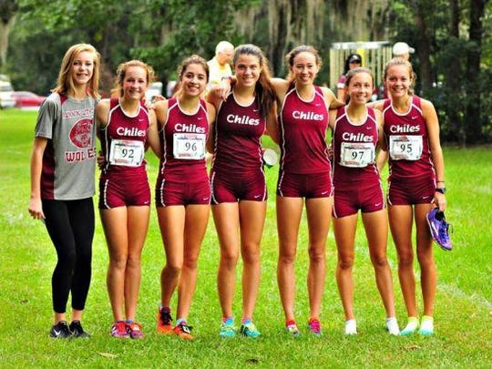 The Chiles girls cross country team finished third at the Alligator Lake Invitational behind Niceville and Georgia's Harrison on Saturday. Senior Emma Tucker picked up an individual win.