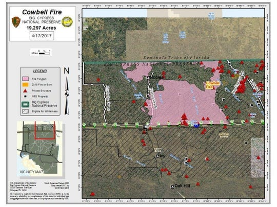 Map of Cowbell Fire.