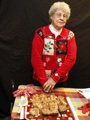 Ruth Bagby with Fresh Apple Cake.