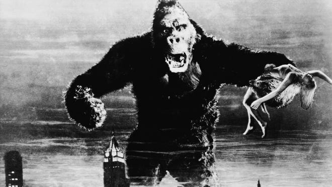 """A classic scene from the 1933 film """"King Kong."""""""