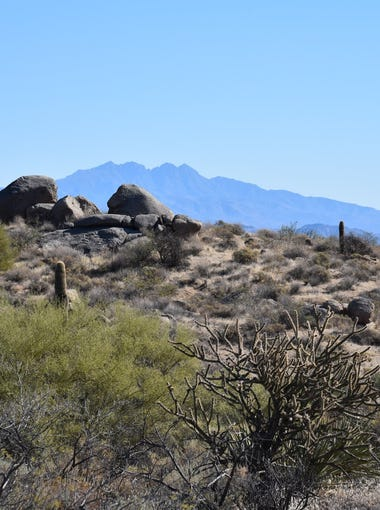 Four Peaks on the eastern horizon from the Maricopa