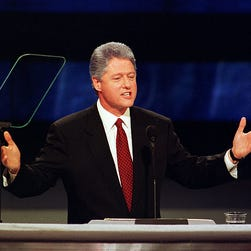 Seven conventions, seven speeches: Bill Clinton at the DNC