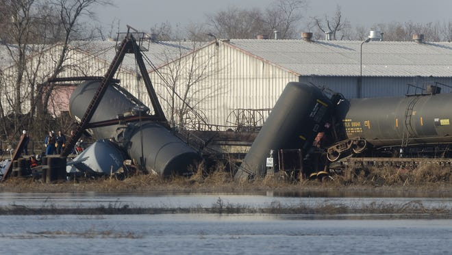 Tanker cars released toxins in the air as a result of the Paulsboro train derailment in November 2012.