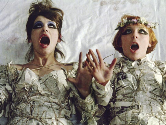 """The two damsels of """"Daisies,"""" which screens during"""