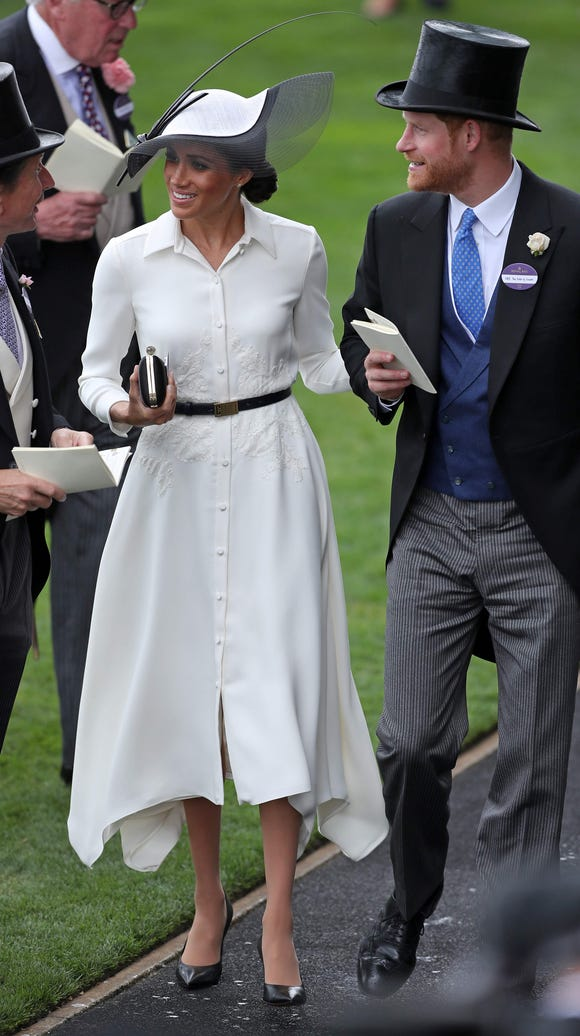 Duchess Meghan's white Givenchy dress featured embroidery