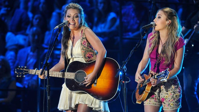 Maddie & Tae perform June 10, 2015, at the CMT Music Awards in Nashville.