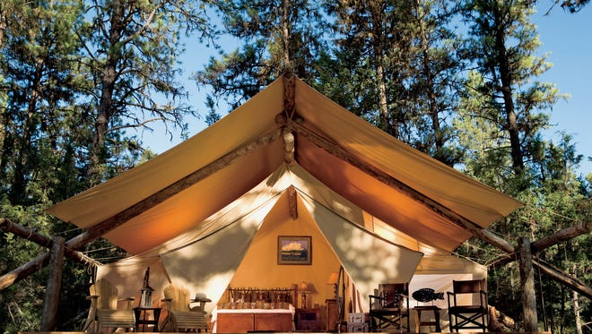 The Resort at Paws Up in Greenough, Mont., is considered one of the ritziest glamping spots in the United States. A one-night stay can set you back $2,000.