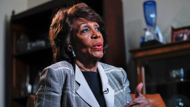 Rep. Maxine Waters, D-Calif. speaks during her interview with the Associated Press at her congressional office on Capitol Hill in Washington on Thursday, March 23, 2017. Waters has served in Congress for a quarter-century.