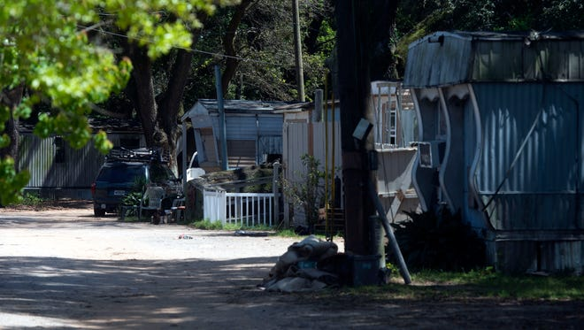 Escambia County officials are looking into possible health hazards in a west Pensacola trailer park, Thursday, April 4, 2018.