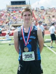 McConnellsburg's Josh Booth placed 5th in the boys