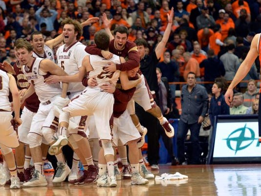 College Basketball Boston College Topples No 1 Syracuse