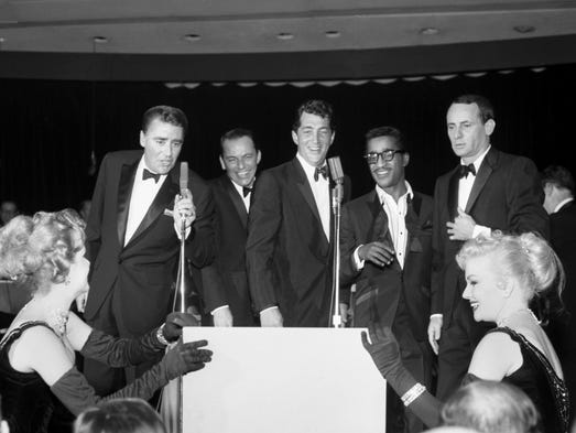 The Rat Pack at the Las Vegas Sands casino in 1960.