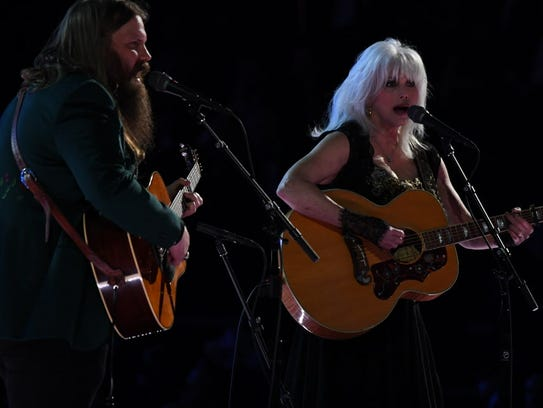 Chris Stapleton and Emmylou Harris.