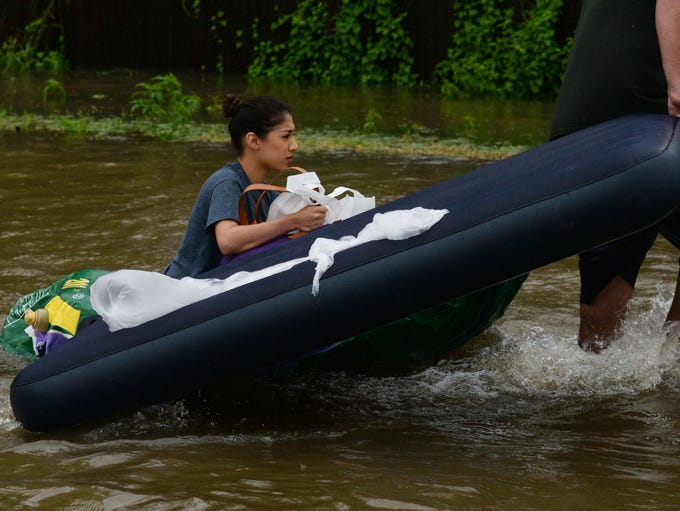 Rescues in the Northeast corner of the Houston area