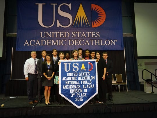 Madison Academic Magnet High School's decathlon team