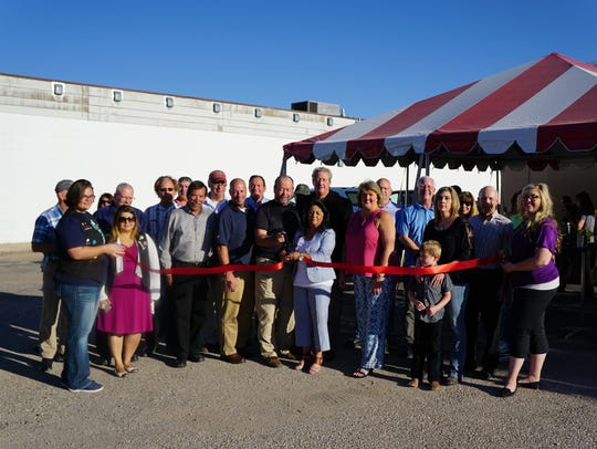 A formal ribbon cutting for the new business was held