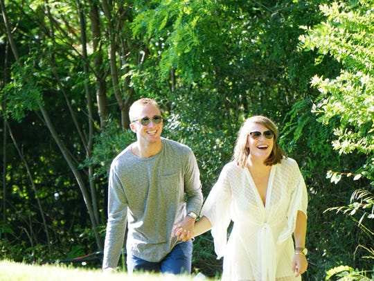 Jay Townsend with his fiance, Elise Madrick