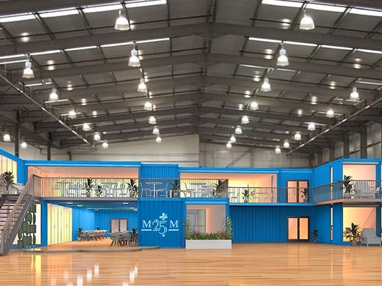 Shipping containers will serve as offices inside the massive warehouse area as part of the $6 million expansion at Matthew 25 Ministries.
