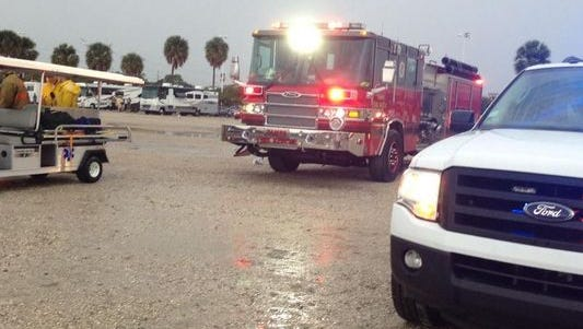 Tampa Fire Rescue at Raymond James Stadium in Tampa, Fla.