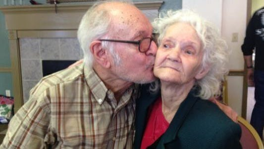 A son reunites with his birth mother after seven decades apart.