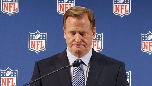 Roger Goodell talks for the first time since Deflategate decision.