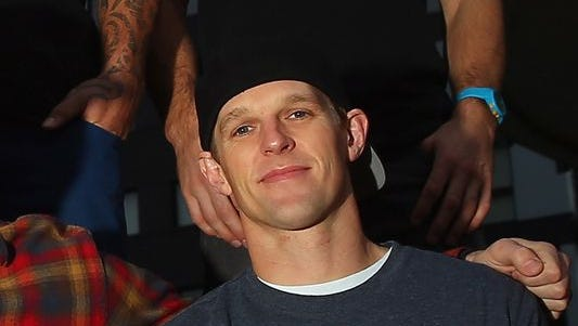 "Erik Roner poses for a photo prior to a ""Nitro Circus Live Show"" in Manchester on Nov. 26, 2013, in Manchester, England."