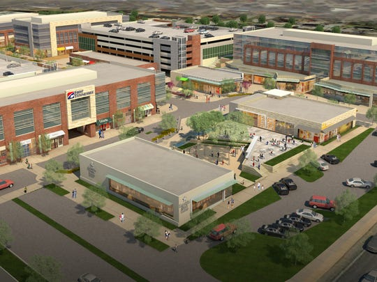 A rendering of Hill Center Brentwood shows the First