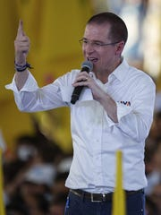 Mexico presidential candidate Ricardo Anaya, of the