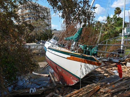 Hurricane Irma damage along Indian River