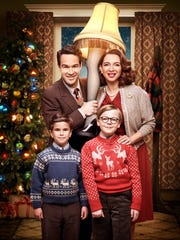 Chris Diamantopoulos, clockwise from top left, Maya Rudolph, Andy Walken and Tyler Wladis play the Parker family in Fox's 'A Christmas Story Live!'
