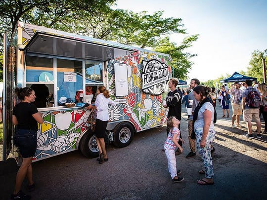 The Fork in the Road food truck at Tuesday's The Community Sailing Center event.