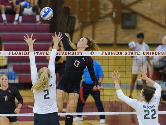 Colorado State Women's Volleyball sweeps FSU 3-0 during the Home2 Suites by Hilton Tallahassee Seminole Tournament