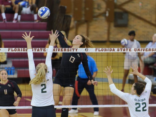 Freshman middle blocker Taryn Knuth is one of the FSU's first-year players that has stepped up during the team's 5-1 start.