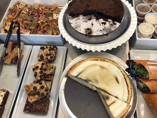 Desserts are ready to be plated-up at Portobello's,