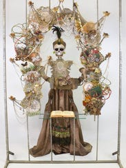 "Detail of ""La Mariposa"" (""The Butterfly"")."