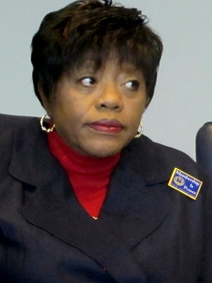 Dot Scott, president of the Charleston, S.C., chapter of the NAACP, attends a news conference on April 24, 2013, in Charleston.
