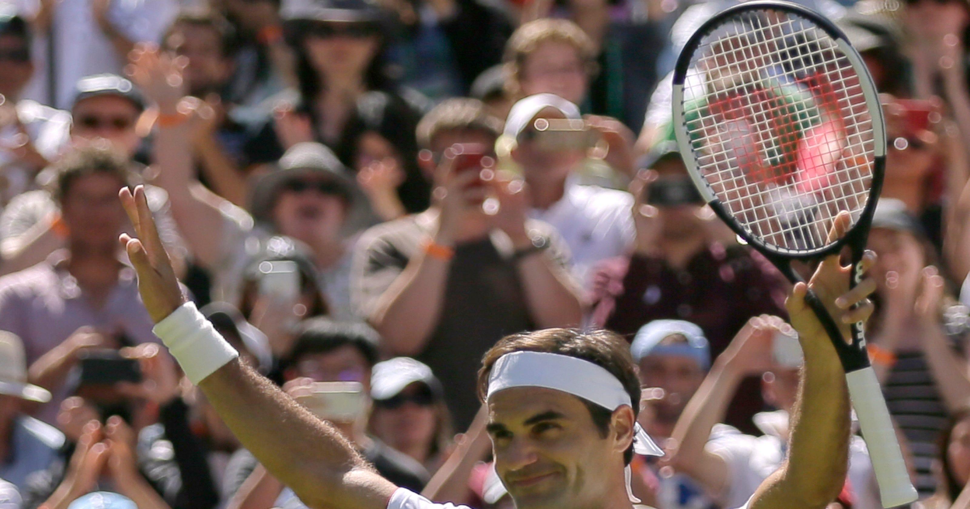 91922f35ef3 2018 Wimbledon  Roger Federer brings a new look