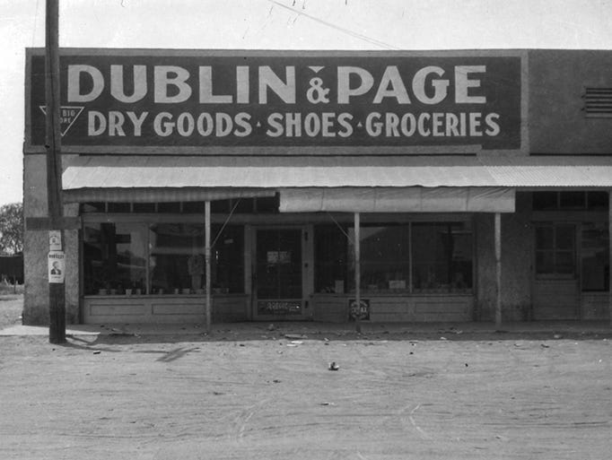 12/18: The old Dublin & Page grocery store, sitting