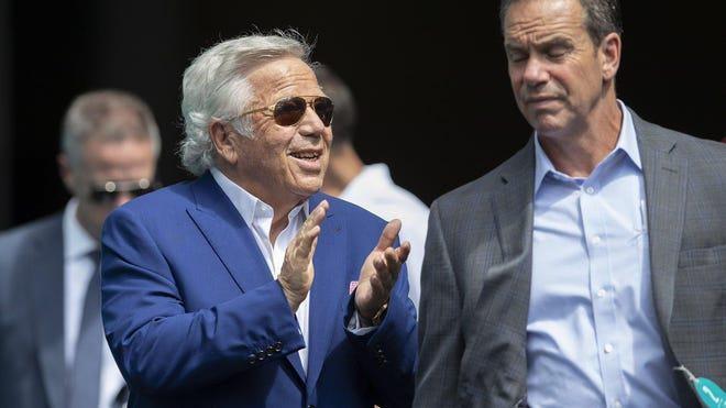 New England Patriots owner Robert Kraft in Miami Gardens, September 15, 2019.