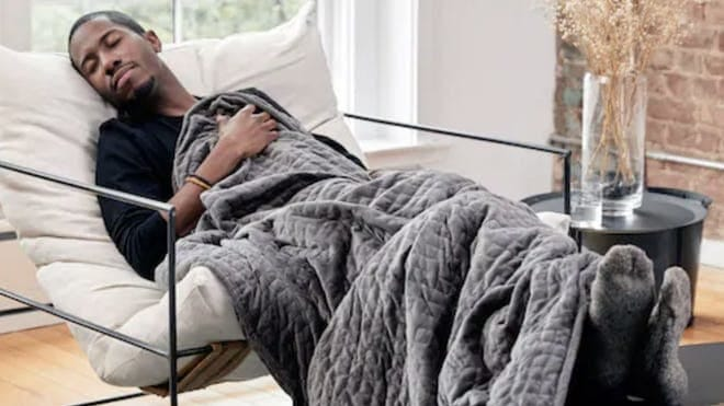 Gravity makes the best weighted blanket in the world—and the whole site is on sale