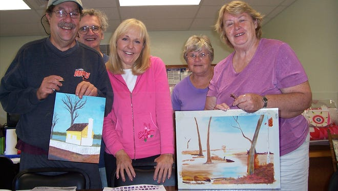 Acrylic and watercolor paintings created by senior center members will be on display May 27, during showcase day at the South Central York County Senior Center in New Freedom.