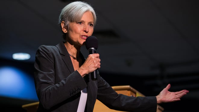 Green Party presidential candidate Jill Stein delivers remarks at Wilkes University in Wilkes-Barre, Pa. on Sept. 21, 2016.