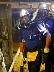 During the field competition, WIPP mine rescue team