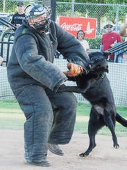 """Redding police officer Brian Berg plays """"the catcher"""""""