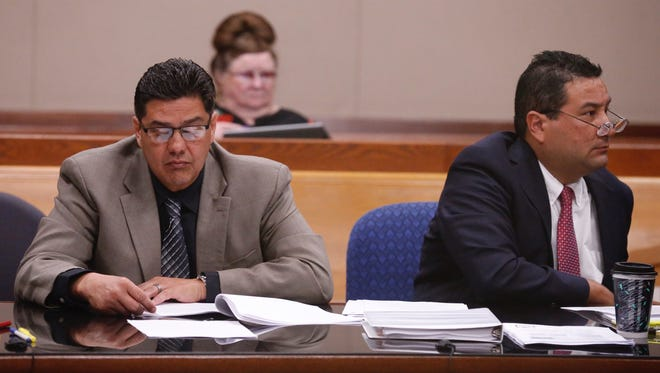 Former Bowie Principal Jesus Chavez is one of three former Bowie administrators in court Monday for a hearing fighting sanctions or revocation of their education credentials for their alleged involvement in the EPISD cheating scheme.