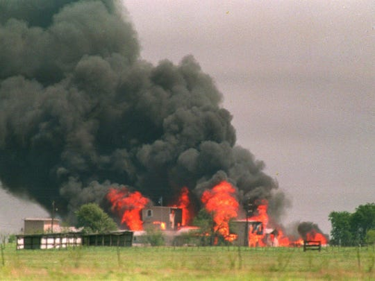 "The Branch Davidian compound near Waco, Texas, went up in flames in April 1993 after the FBI launched a tear gas attack. Seventy-six member of the religious sect died in the fire. The attack is recalled in Waco: Madman or Messiah,"" airing Sunday and Monday on A&E."