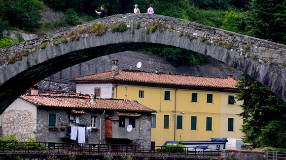 Ponte della Maddalena in Borgo a Mozzano, Italy.