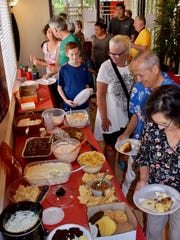 Residents of the Casitas at Morningstar gather for