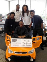 The Rickards High School Jazz Combo performed at Kia of Tallahassee.